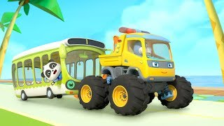 Download lagu Bayi Panda Supir Bus | Kumpulan Film Anak | BabyBus Bahasa Indonesia