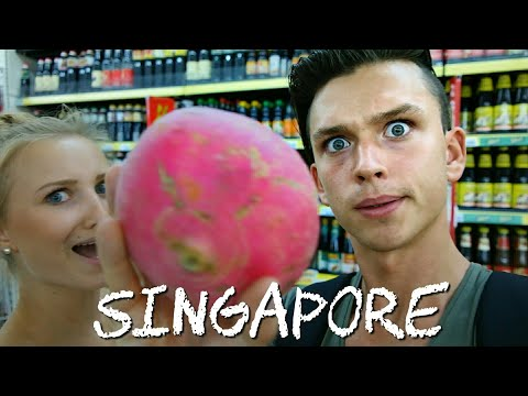 Travel to Singapore 2018 / Germans go Grocery Shopping in Singaporean Supermarket
