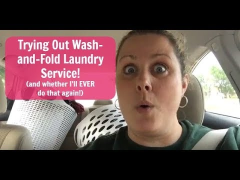 Trying Out Wash And Fold Laundry Service Youtube