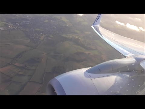 Ryanair Boeing 737-8AS | Grenoble Isère to London Stansted *Full Flight*