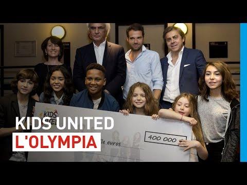 [Coulisses] Les KIDS UNITED remettent un chèque à l'UNICEF après l'Olympia !