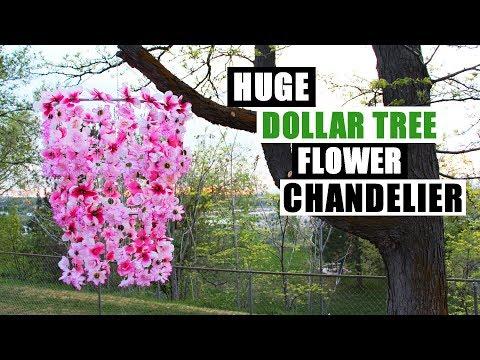 DIY DOLLAR TREE HUGE FLOWER CHANDELIER Outdoor Home Decor