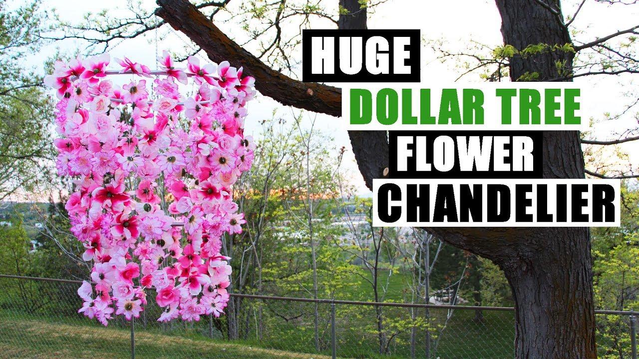Diy dollar tree huge flower chandelier outdoor home decor youtube diy dollar tree huge flower chandelier outdoor home decor arubaitofo Image collections