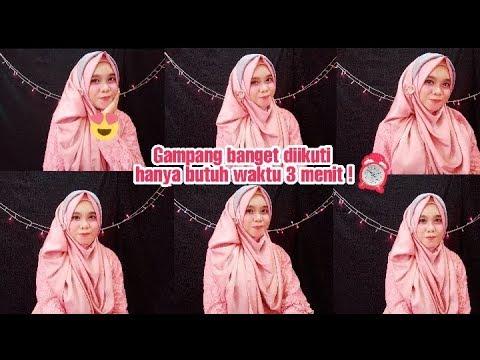 Tutorial Hijab Pesta Menutup Dada.