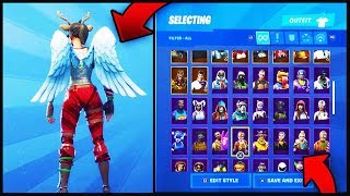 NEW ARK WINGS BACKBLING! ON ALL MY FORTNITE SKINS! (129 SKINS TOTAL)!