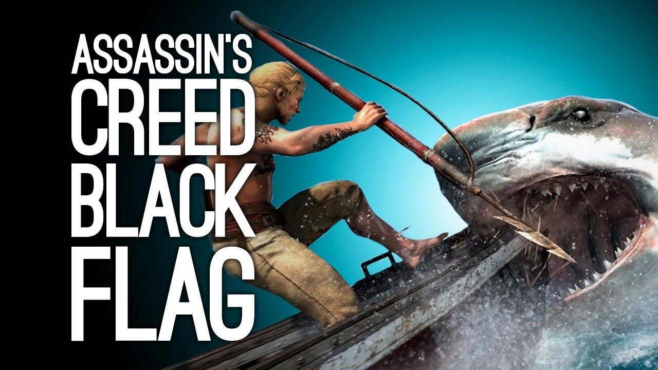 Assassin's Creed Black Flag LIVESTREAM: Shark hunts!! Ellen Plays AC Black Flag GET THEM SHORKS