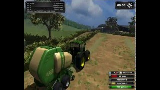 Farming Simulator 2011|| Grass PARTY!!