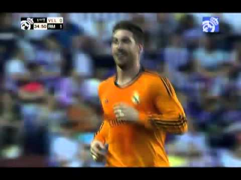Sergio Ramos' amazing free-kick goal against Valladolid 07/05/2014