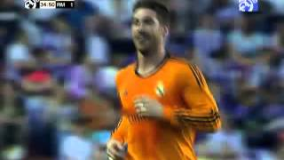 Sergio Ramos' amazing free-kick goal against Valladolid 07/05/2014