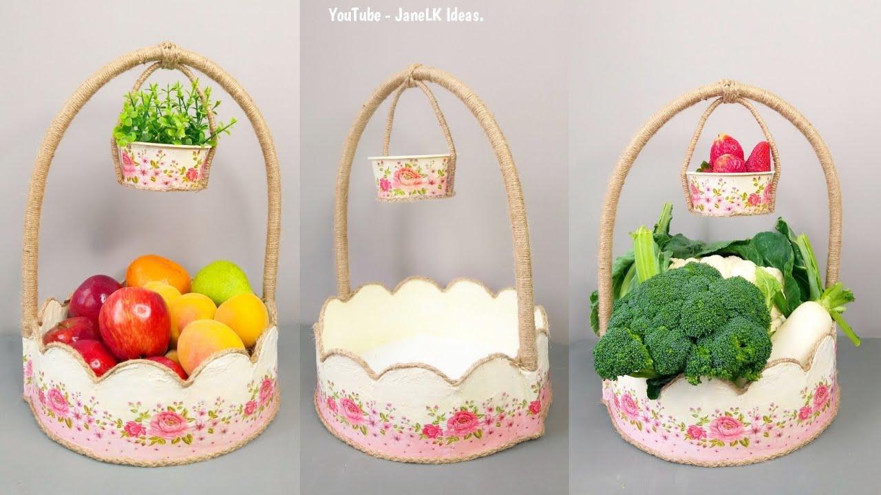 Gran Idea Para Regalar y Vender,  Reciclando Cartón/ Verdurero y Frutero Con Material Reciclado.