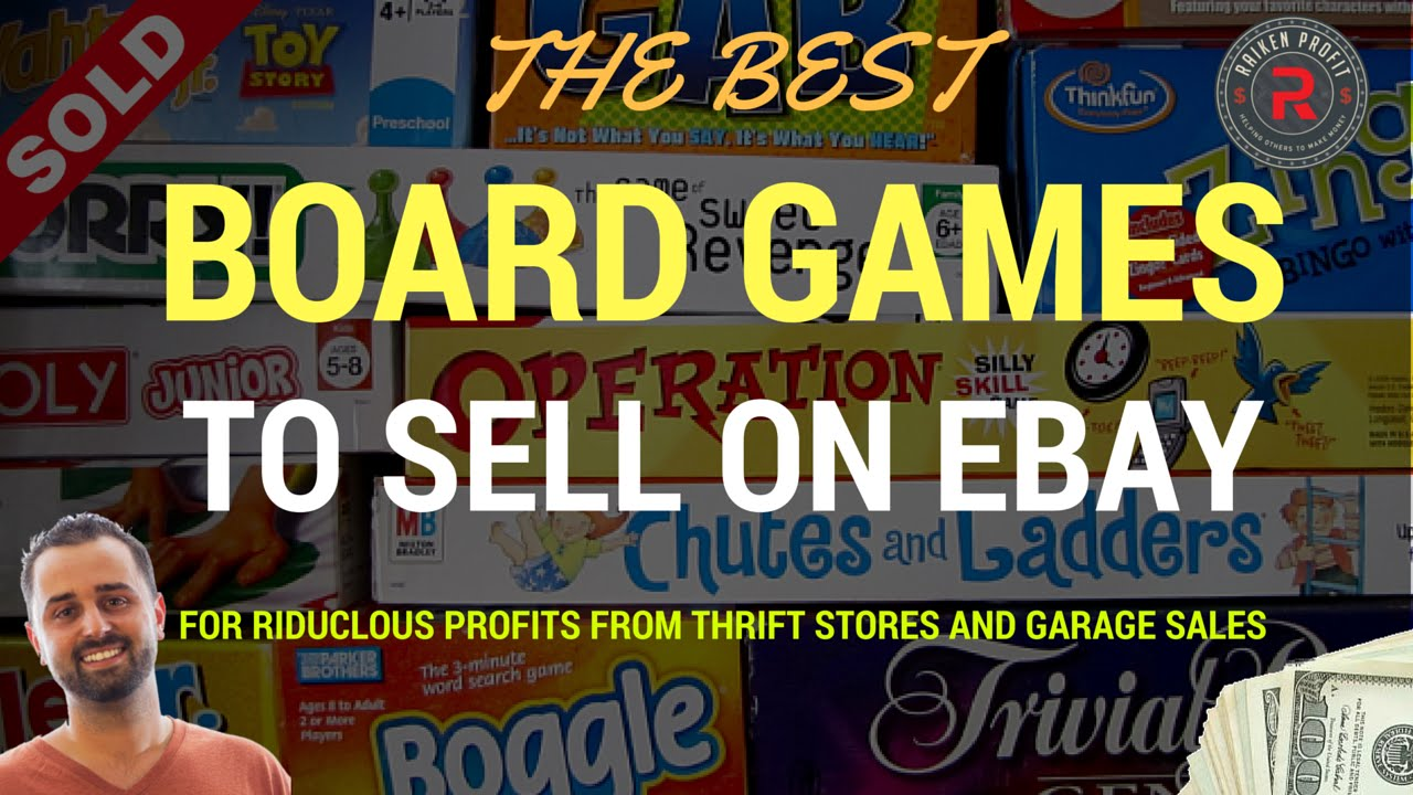 Board Games That Sell On Ebay For Ridiculous Profits From Garage Sales And Thrift Stores Youtube