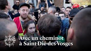 Avec un cheminot à Saint-Dié-des-Vosges | Emmanuel Macron