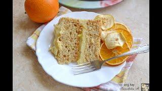 Обязательно сохраните рецепт Постный апельсиновый торт с апельсиновым соусом Lean orange cake