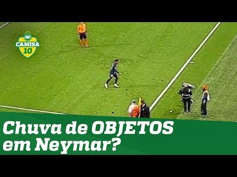 Chuva de OBJETOS em Neymar? OLHA o que a torcida do Lyon fez antes do gol do craque do PSG!