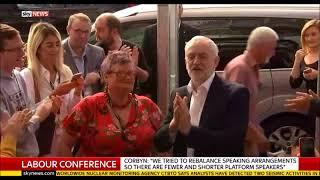 Jeremy Corbyn arrival at Labour women