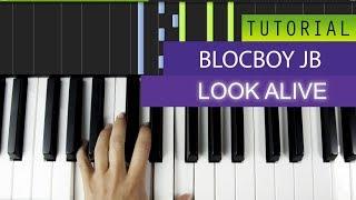 BlocBoy JB - Look Alive (feat. Drake) Piano Tutorial / Karaoke + MIDI