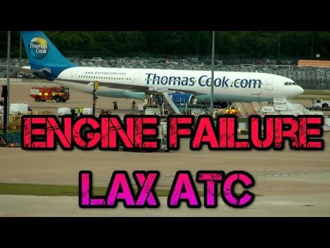 Los Angeles Emergency Engine failure Thomas Cook G-OMYT