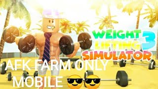 Roblox (mobile) weight lifting sim auto farm afk cheat😎😎😎