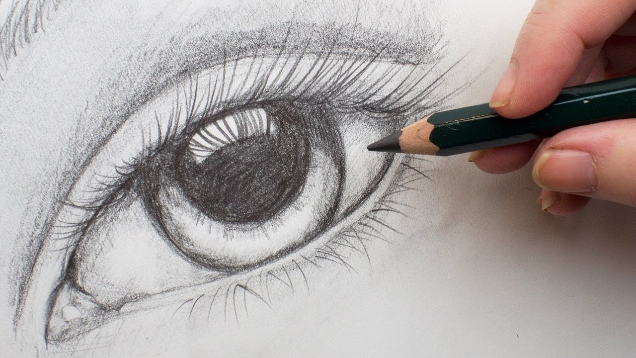 Realistic eye Step by Step Pencil Drawing on paper for ...