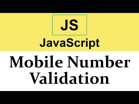 #30 Mobile Number Validation In JavaScript Using Regular Expression
