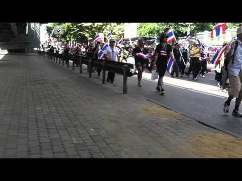 Bangkok Thailand Downtown Protest