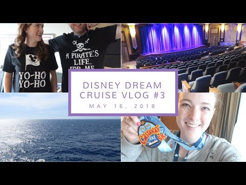 Disney Cruise Vlog Day 3 | Castaway Cay Cancelled, Fun on the Ship, + Pirate Night  | May 16, 2018
