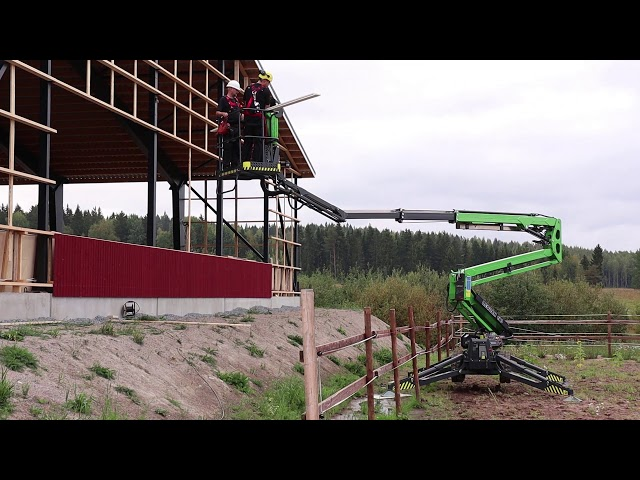 Leguan Lifts in action: L190 access platform at a construction site (2018)