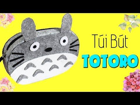 Không biết may vá vẫn làm được túi bút Totoro cực xinh!! ^^