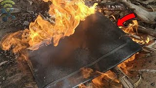 Fireproof Document Bag Silicone Coated Fire Resistant and Highly Water-Resistant : Unboxing & Review
