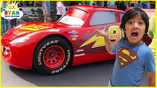 Disney Cars Rides In Real Life at Amusement Park!