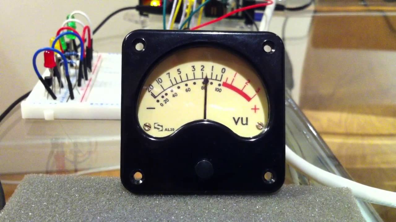 Digital Vu Meter : Raspberry pi driving an analog vu meter youtube