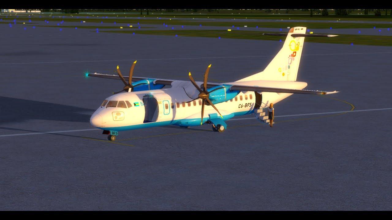Prepar3D V3 4 Bahamasair ATR 42-600 Freeport - Nassau