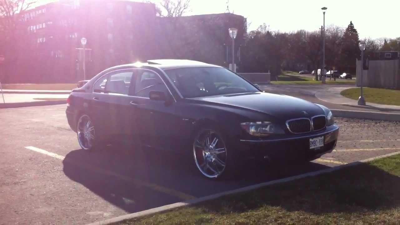 "2012 BMW 750Li >> 2006 BMW 750Li w/ Deep Dish 24"" rims - YouTube"