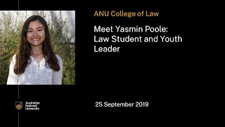 Meet Yasmin Poole, law student and youth leader