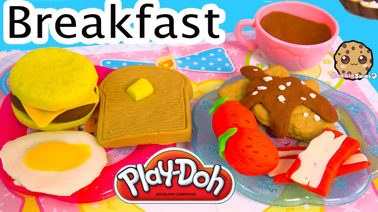 Playdoh Food Breakfast Maker Molds Playset Play doh Plasticine Toy