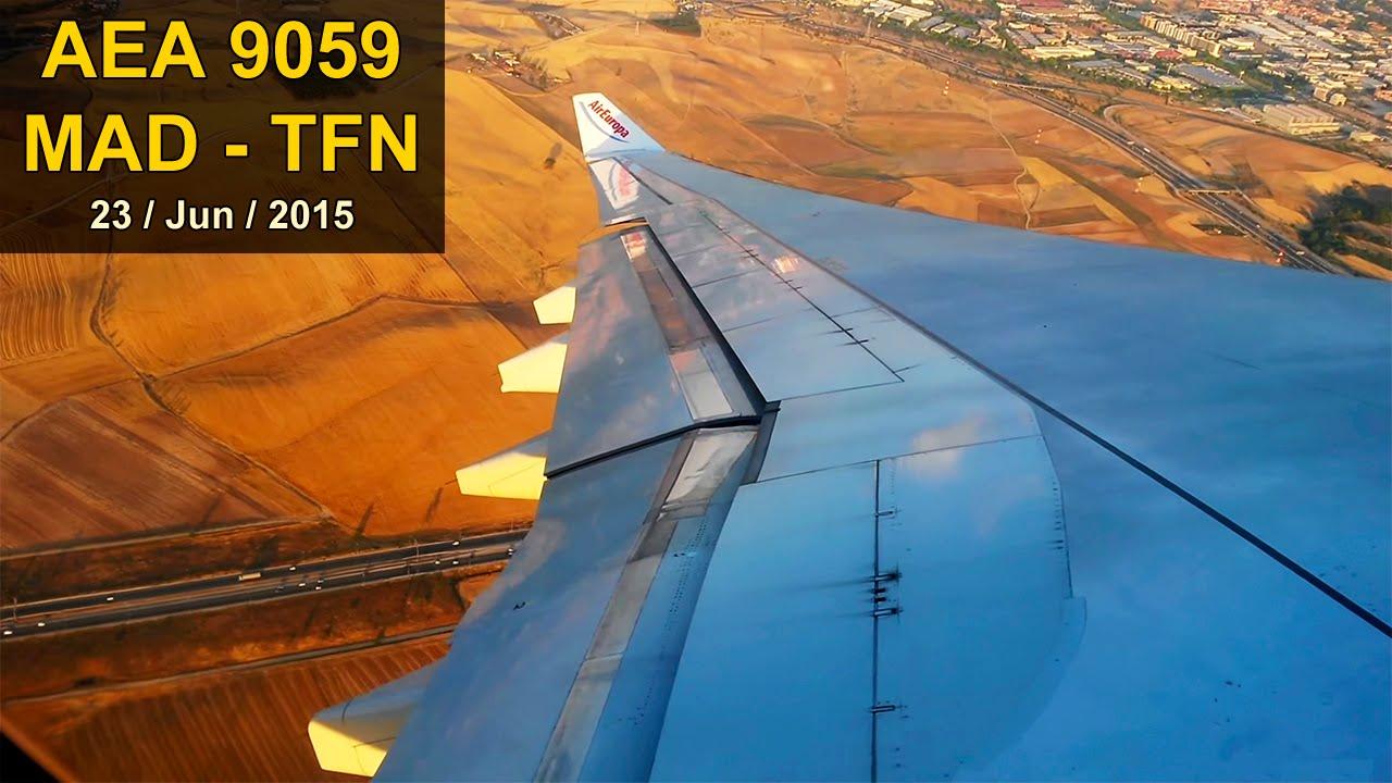 Full Flight A330 Madrid Tenerife Air Europa Youtube