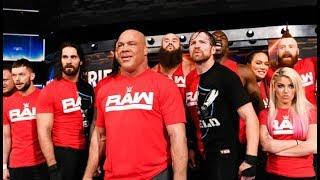 Team Raw kéo đến và đập SML team SmackDown!