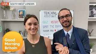 Joe Wicks Is Home From Hospital & His Pe Lessons Are Back With A Little Help! | Good Morning Britain