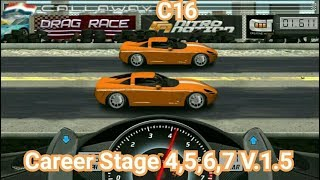 Drag Racing Tune Car C16 For 4 Career Stage Level 4 5 6 7 V 1 5
