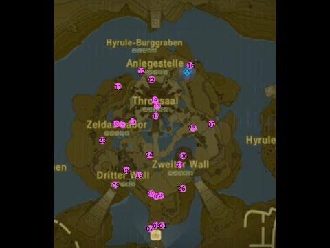 Zelda Krog Karte.The Legend Of Zelda Breath Of The Wild Alle Krogs Schloss Hyrule