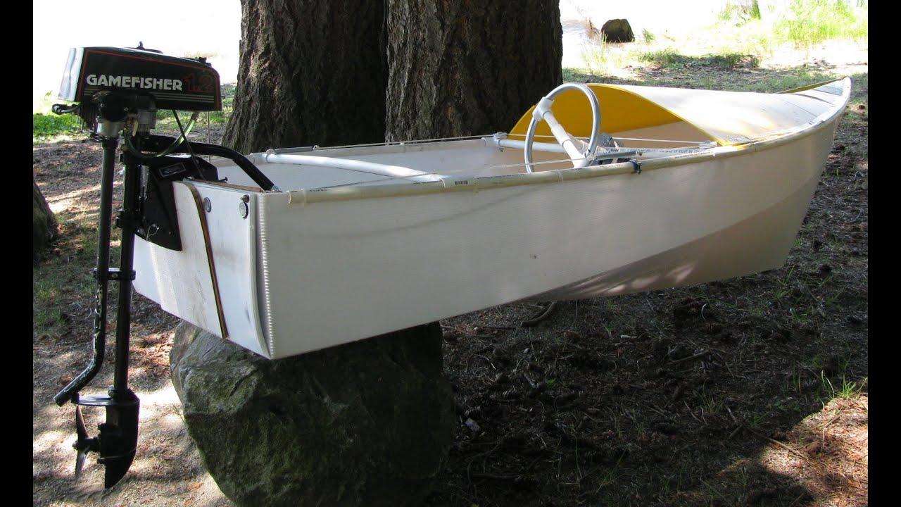 One Sheet Coroplast Motor Boat Youtube