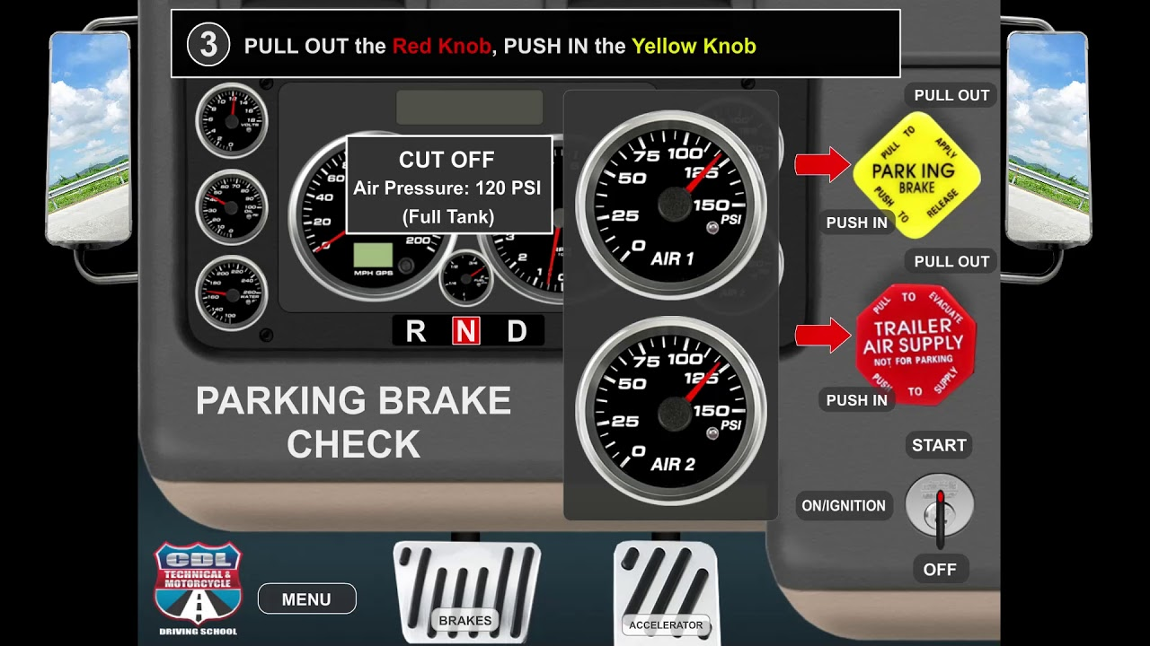parking brake check - air brake check
