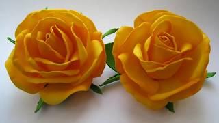 Цветы своими руками из фоамирана для начинающих /Цветы из фоамирана Розы МК