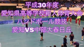 平成30年度 愛知県高等学校新人体育大会 ハンドボール競技 愛知VS中部大春日丘