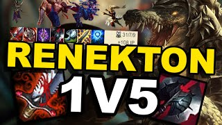 FULL AD RENEKTON 1 V 5 !!! Patch 6.9 ( League of Legends )