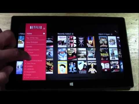 Netflix on the Windows Surface Tablet​​​  H2TechVideos​​​