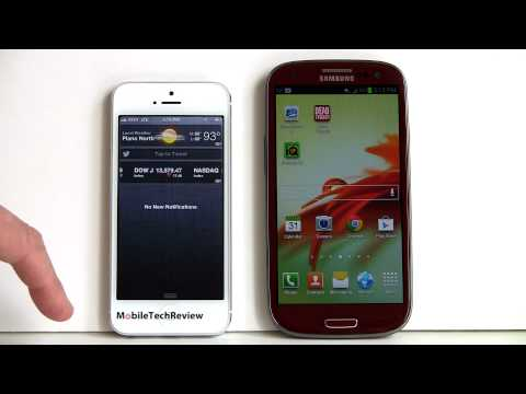 iPhone 5 vs Samsung Galaxy S III Comparison Smackdown
