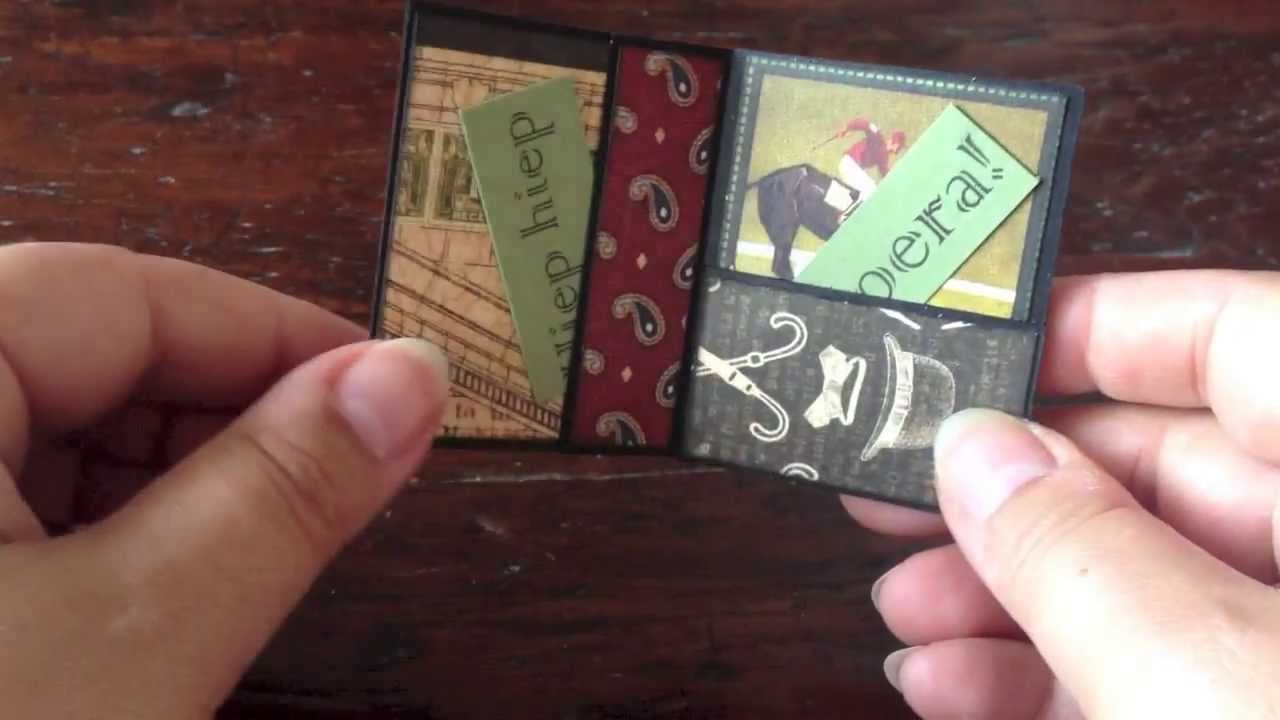 """How to make a mini booklet birthday """"card"""" - YouTube"""