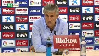 Rueda De Prensa De Quique Setién Tras El Villarreal Real Betis
