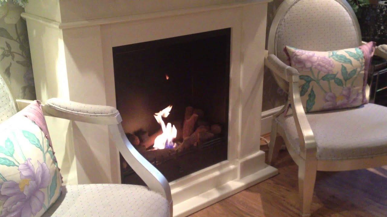 roma ii bio ethanol freestanding fireplace youtube